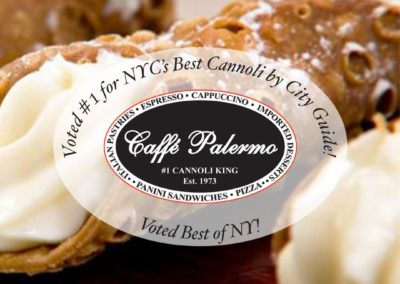 Caffe Palermo Voted #1 Cannoli by City Guide Baby John DeLutro Little Italy Restaurant